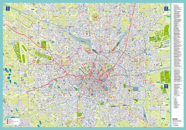 Cartina Milano Con Metro.Piantina Cartina Milano E Provincia